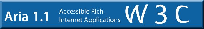 """Schriftzug: W3C, Aria 1.1 und """"Accessible Rich Internet Applications"""""""