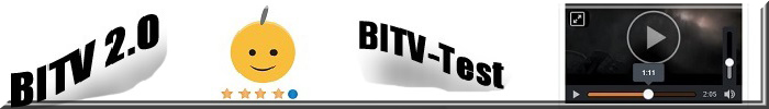 BITV 2.0, BITV-Test. Videoplayer. Smiley mit 1 grauem Haar.