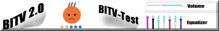 BITV 2.0, BITV - Test. Graphic-Equalizer-Widget. Smiley mit 3 grauen Haaren.